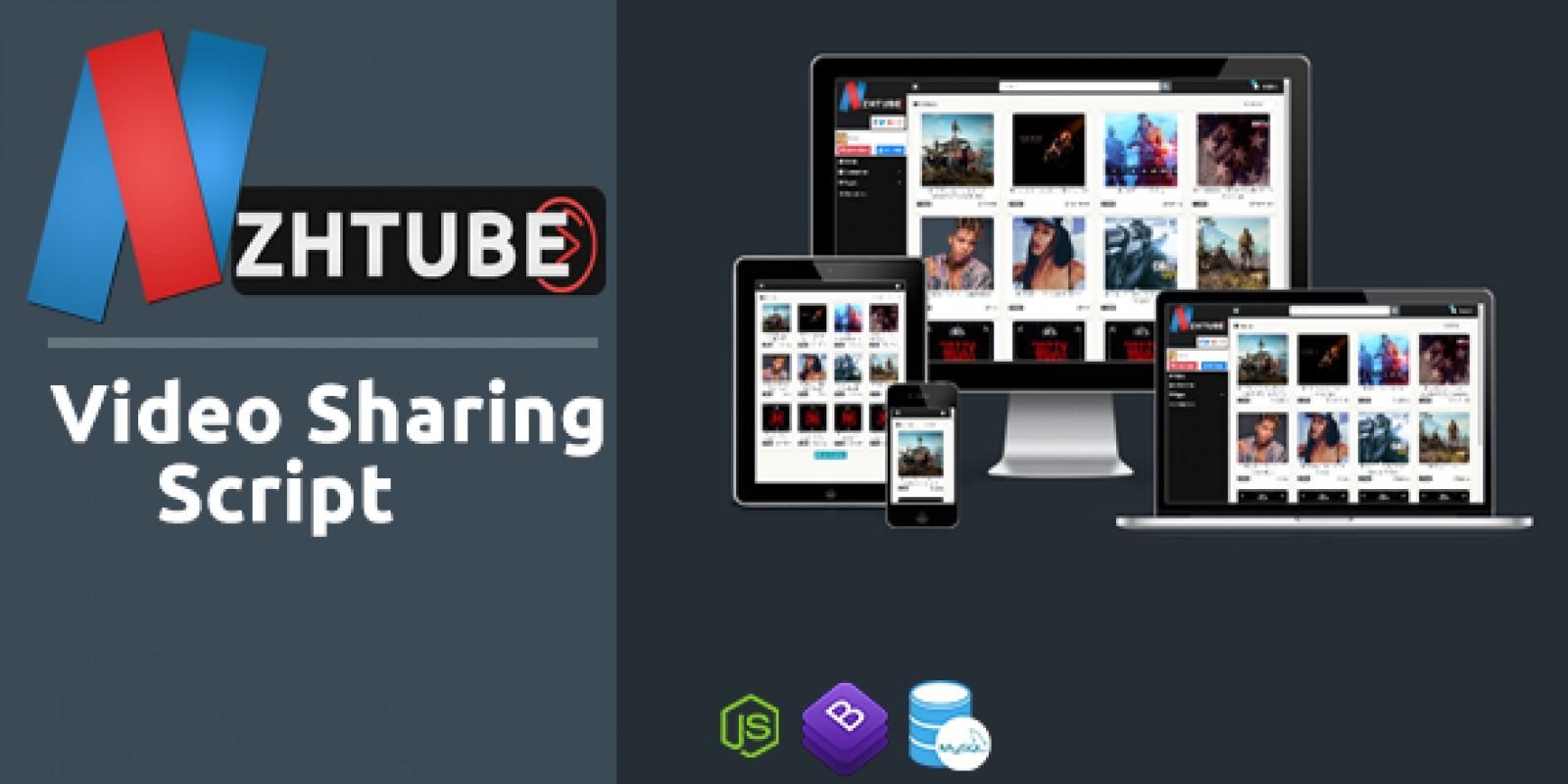 NazihTube Video Sharing Script - Node.js
