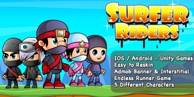 Surfer Riders - Unity Game Source Code