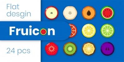 Fruicon - Flat Design Fruit Icons
