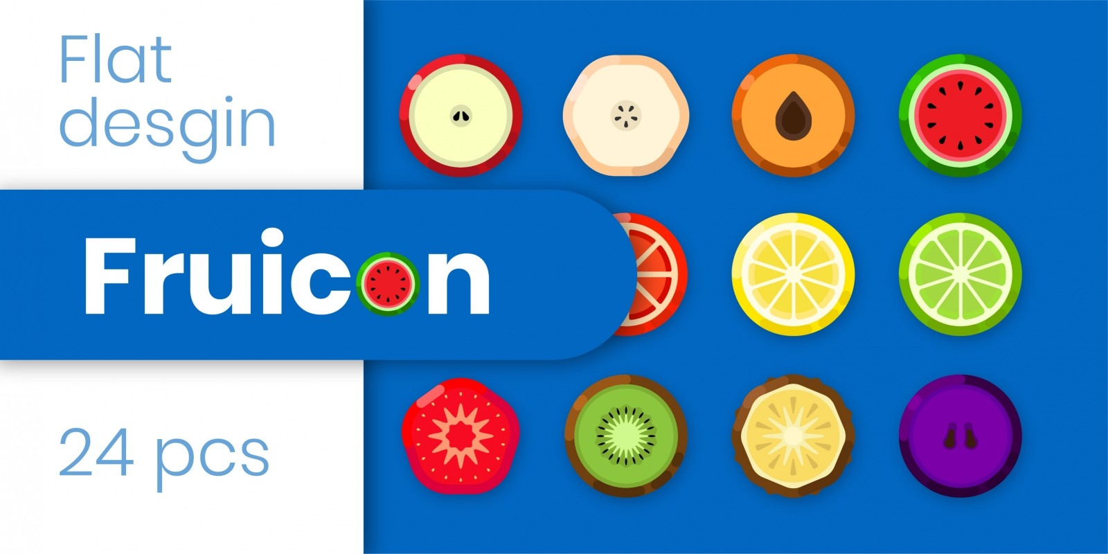 Fruicon - Flat Design Fruit Icons