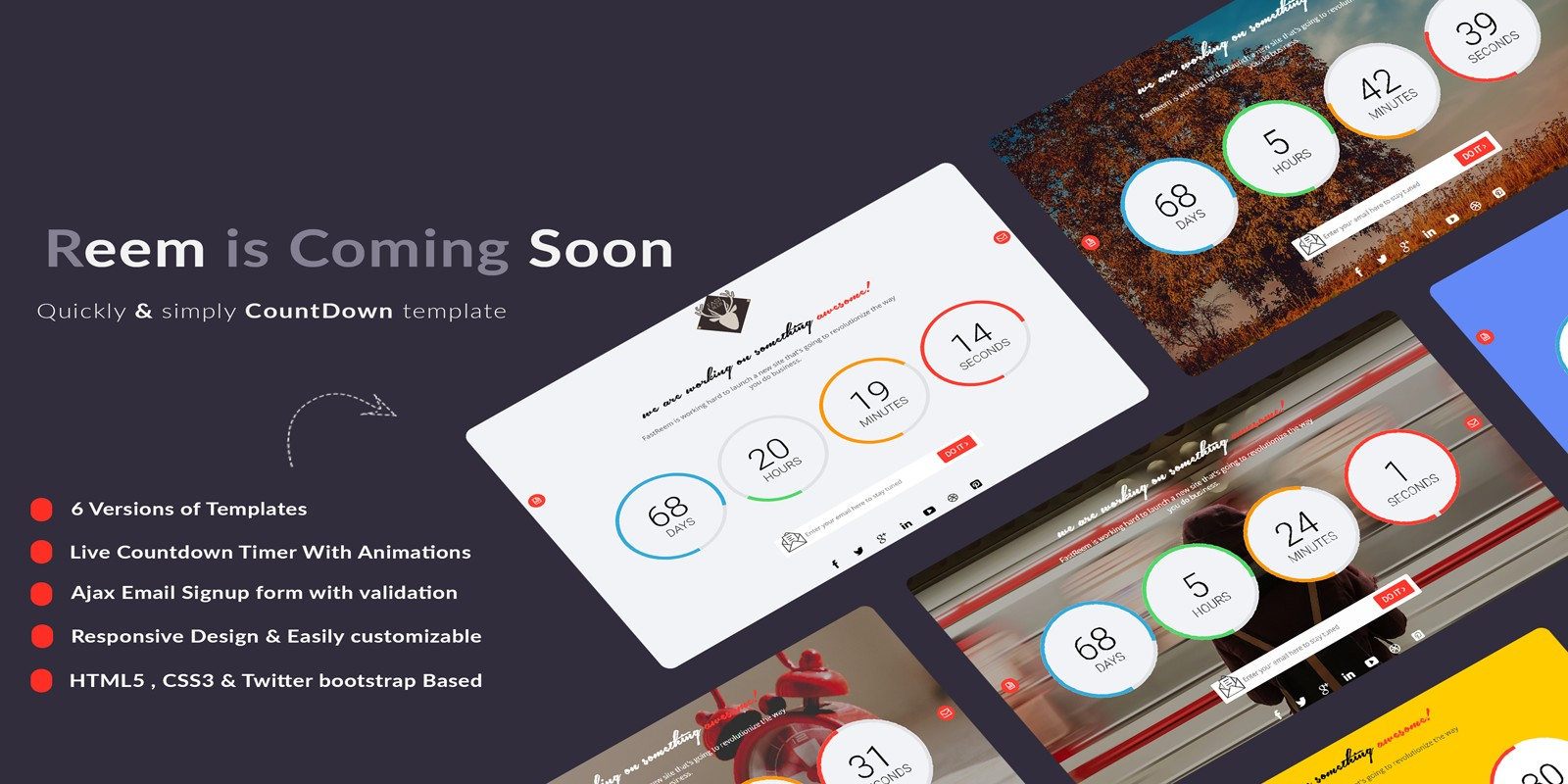 Fastreem - Coming Soon Countdown Template