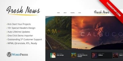 FreshNews - Wordpress News Theme