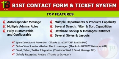 PHP Contact Form & Ticket Systerm