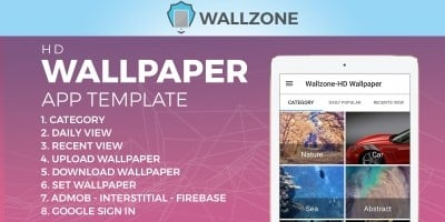 Wallzone -  HD Wallpaper App Template