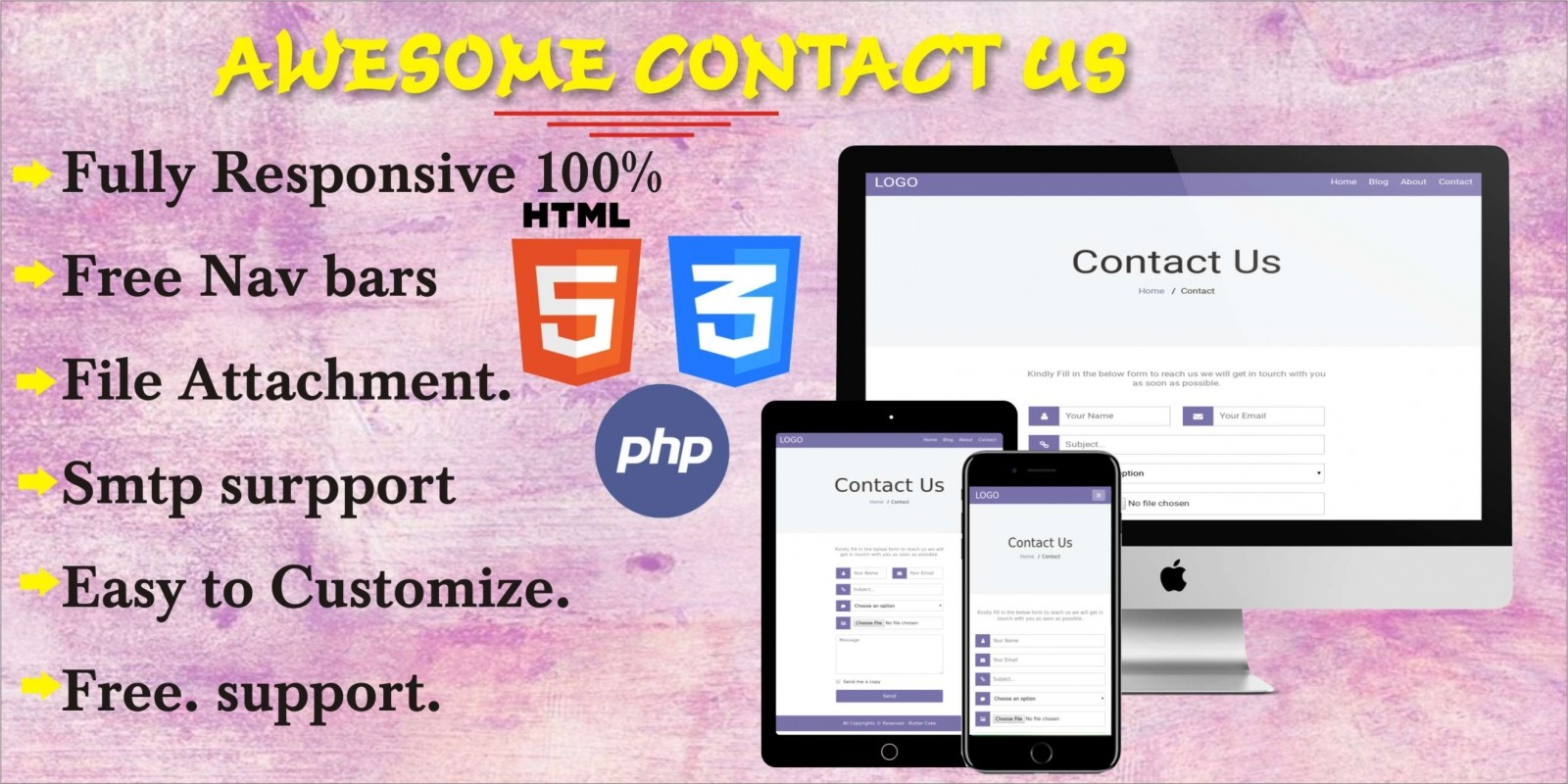 Awesome Contact Us Page