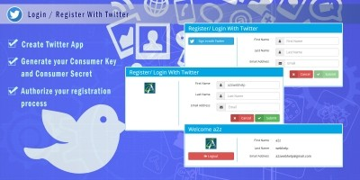PHP Login Register With Twitter