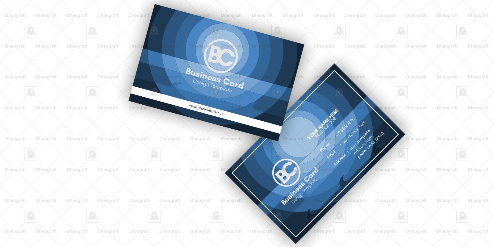 Night Ocean Business Card Template