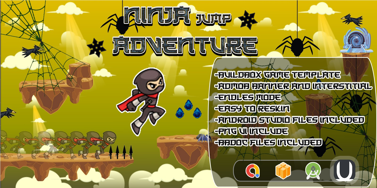Ninja Jump Adventure Buildbox