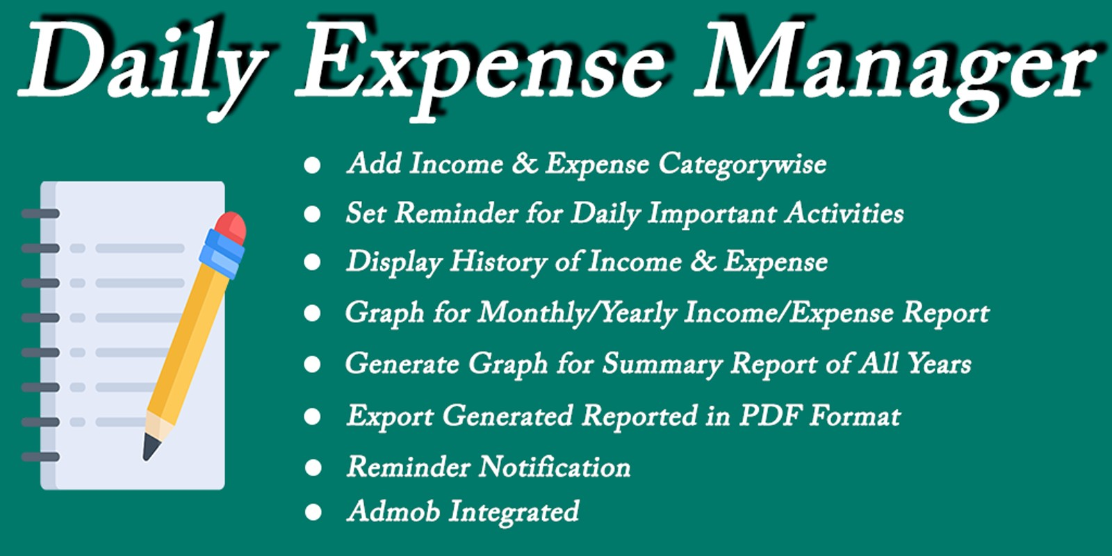 Daily Expense Manager - Android Source Code