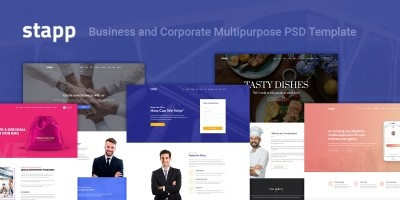 Stapp – Business Multipurpose PSD Template