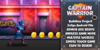 Captain Warrior - Buildbox template