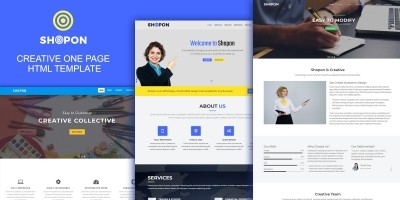 Shopon - Creative One Page HTML Template