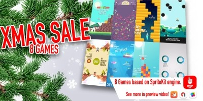 Xmas Bundle - 8 iOS Game Source Codes