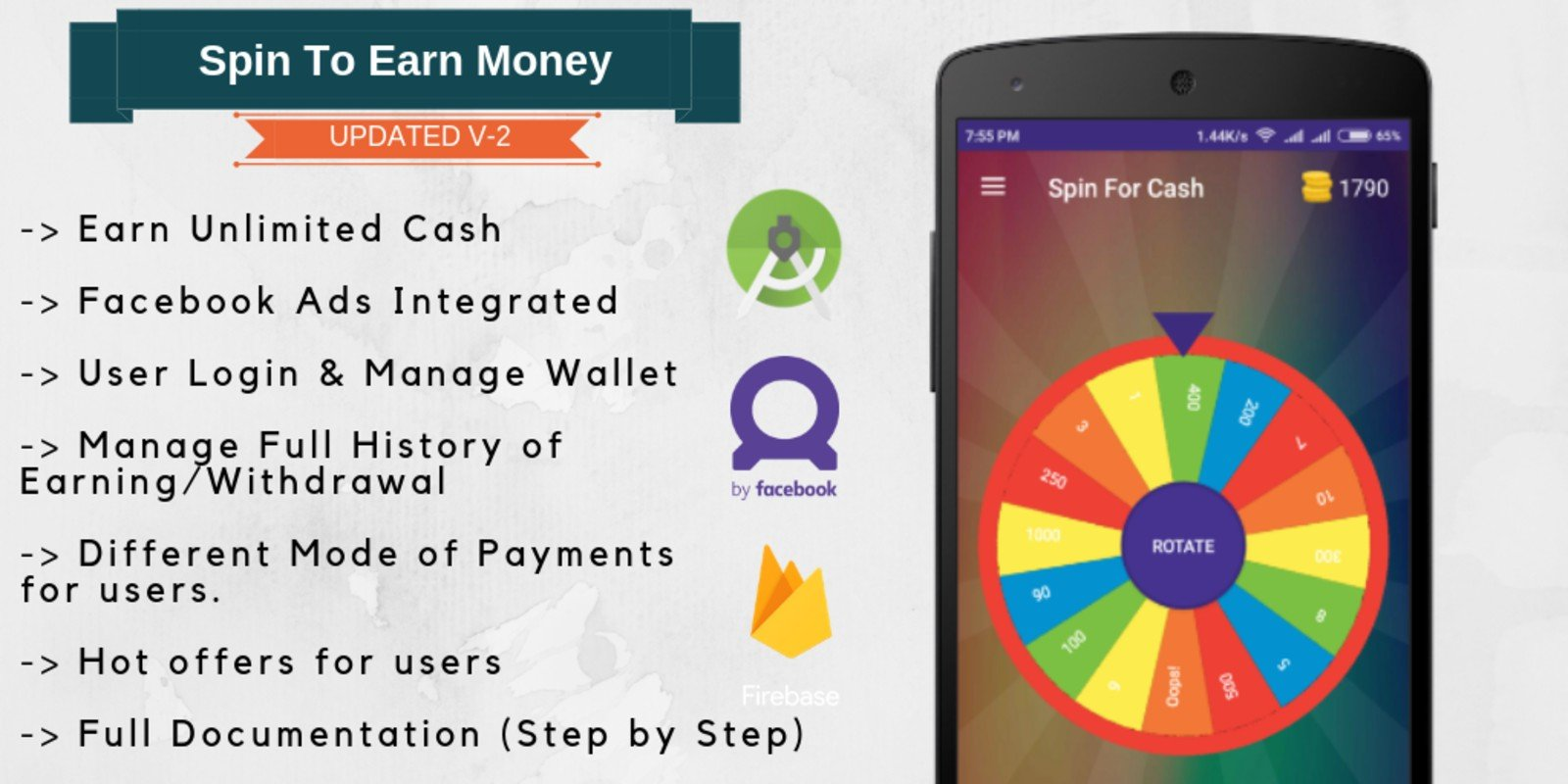 Spin For Cash - Android Source Code