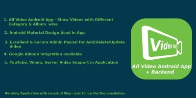 All In One Video - Android Native Source Code