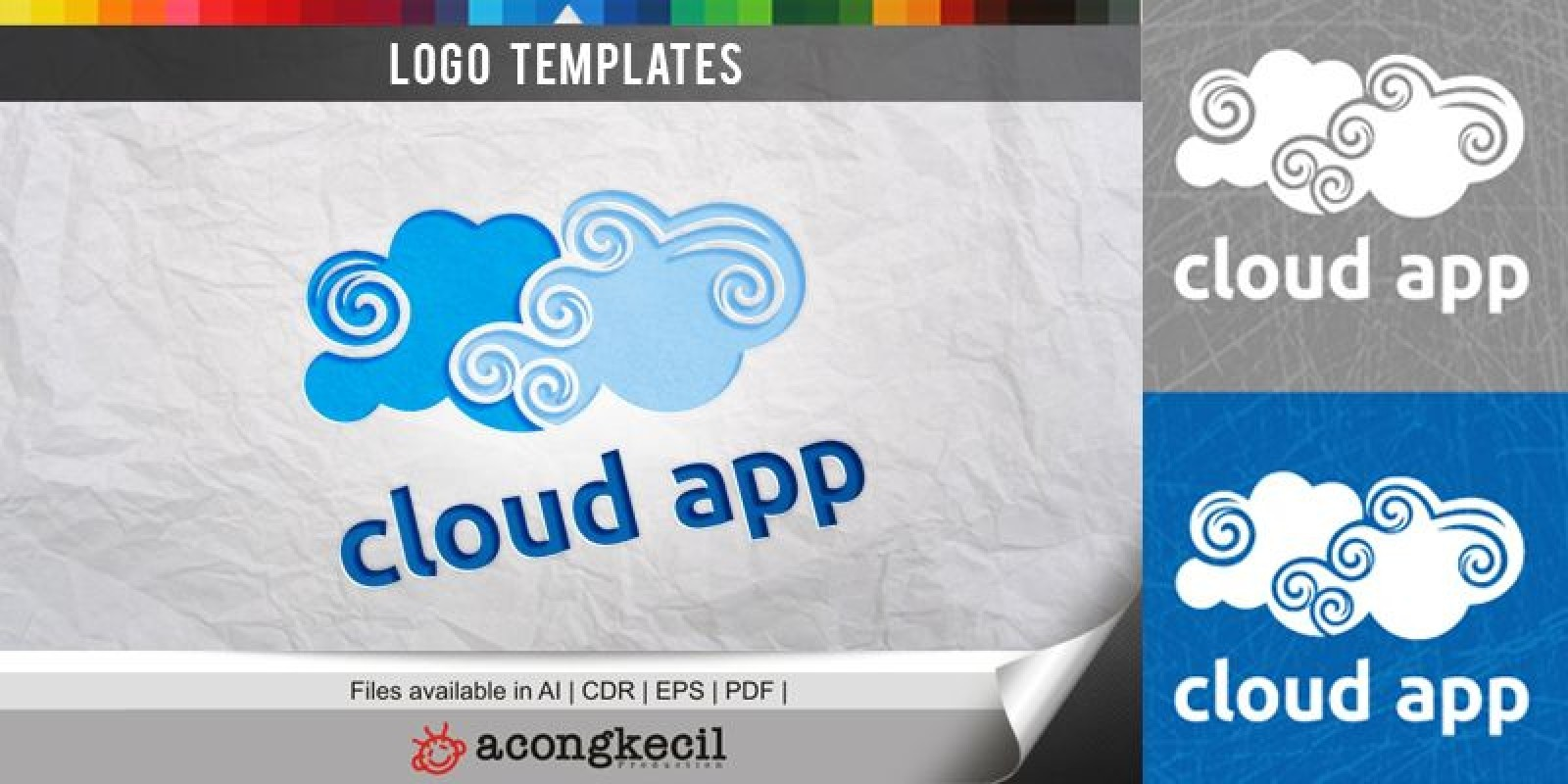 cloud app logo template tech logo templates codester