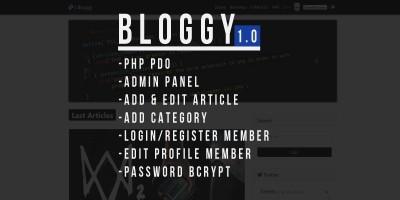 Bloggy - CMS Mini Blog Script PHP