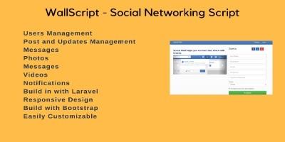 Wallscript - Social Networking Script Laravel