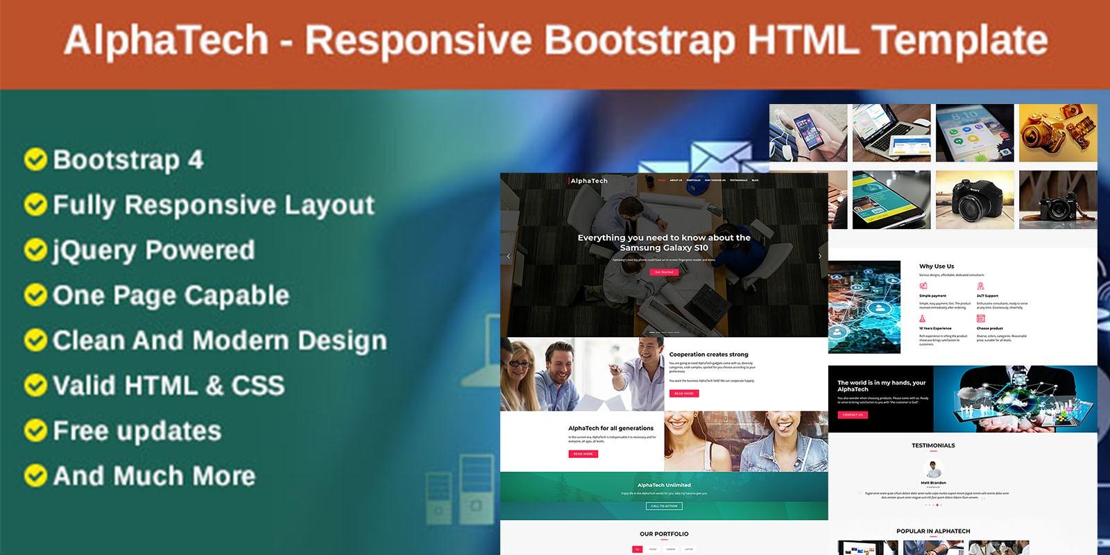 AlphaTech - Responsive Bootstrap HTML Template