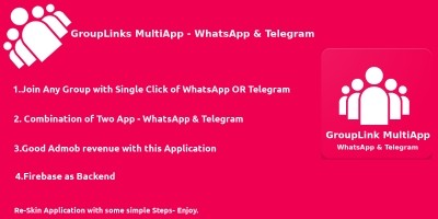 GroupLink WhatsApp And Telegram - Android App