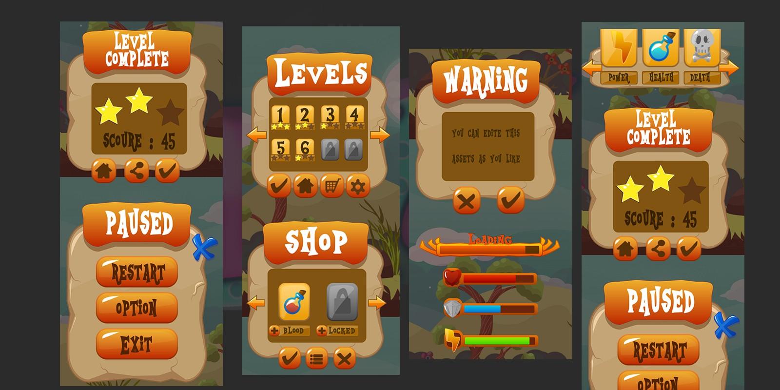 2D Game GUI Kit