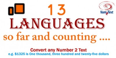 Num2Text Number to Text converter PHP Class