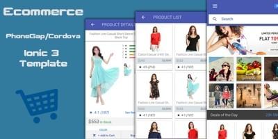 Ionic 3 Ecommerce App Theme