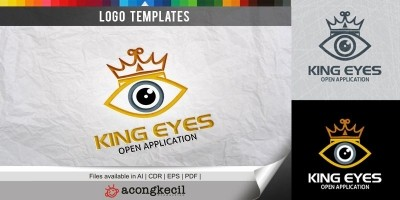 King Eyes - Logo Template