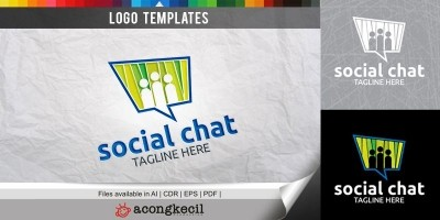 Social Chat - Logo Template