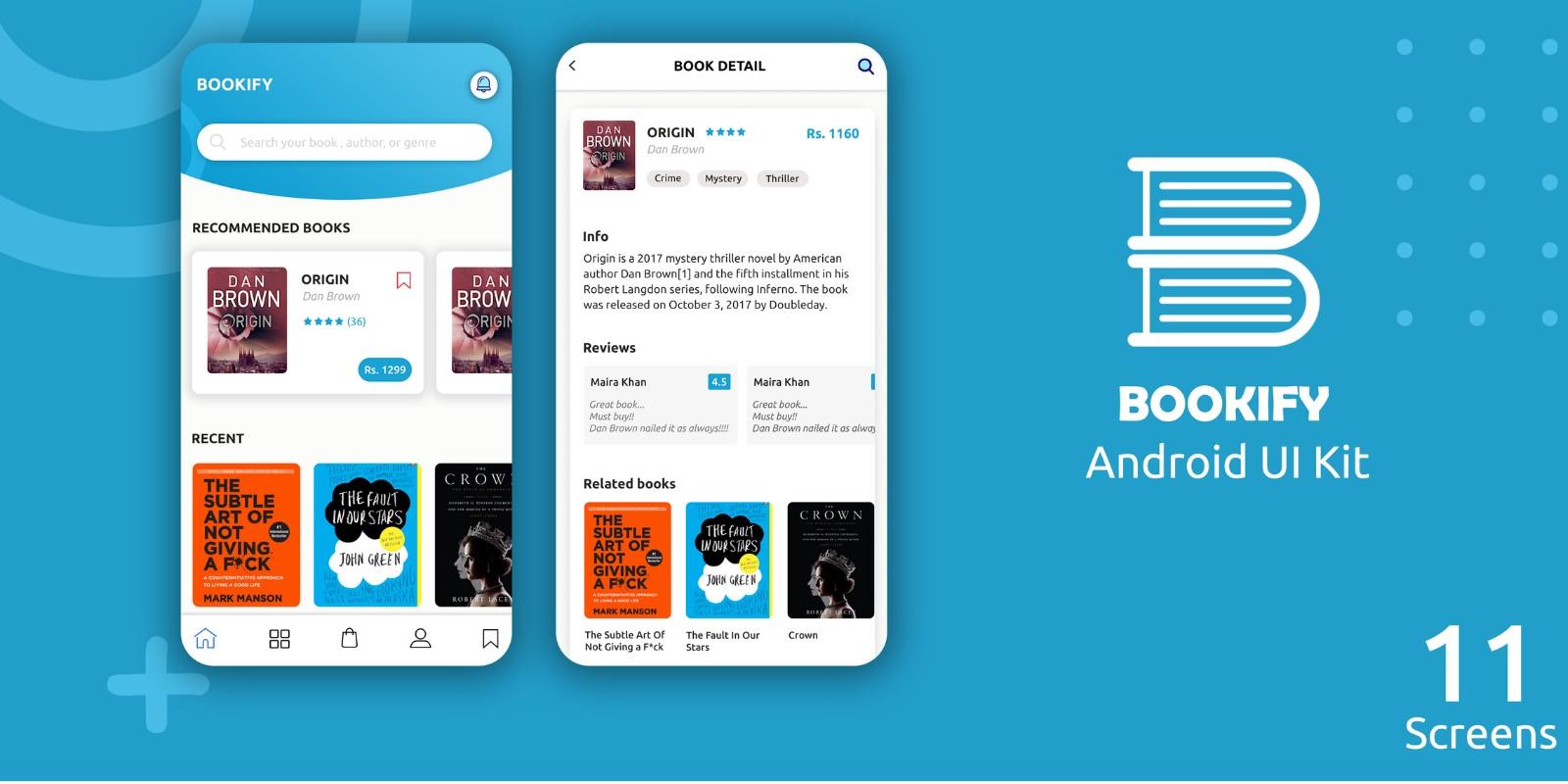 Bookify - Android Studio UI Kit