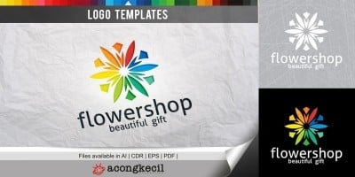 Flower Shop - Logo Template