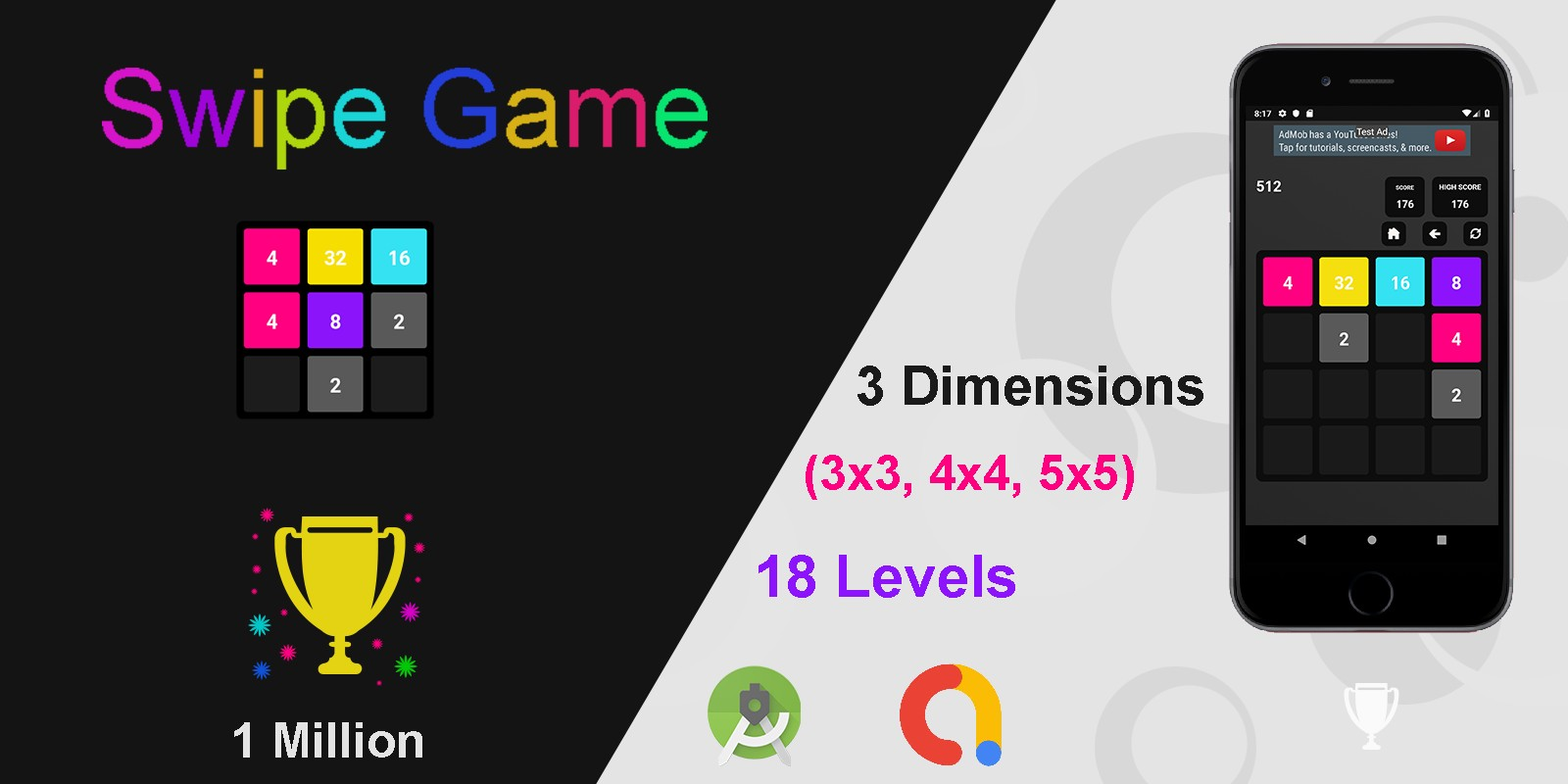 Swipe Game  Version Pro -  Android  Template