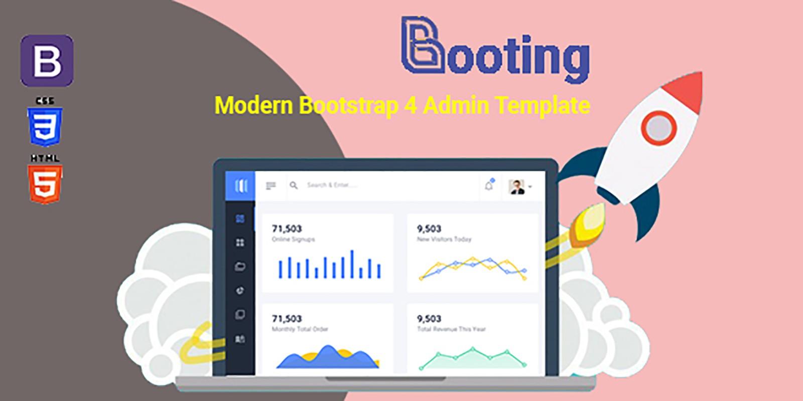 Booting Dashboard - Bootstrap 4 Admin Dashboard