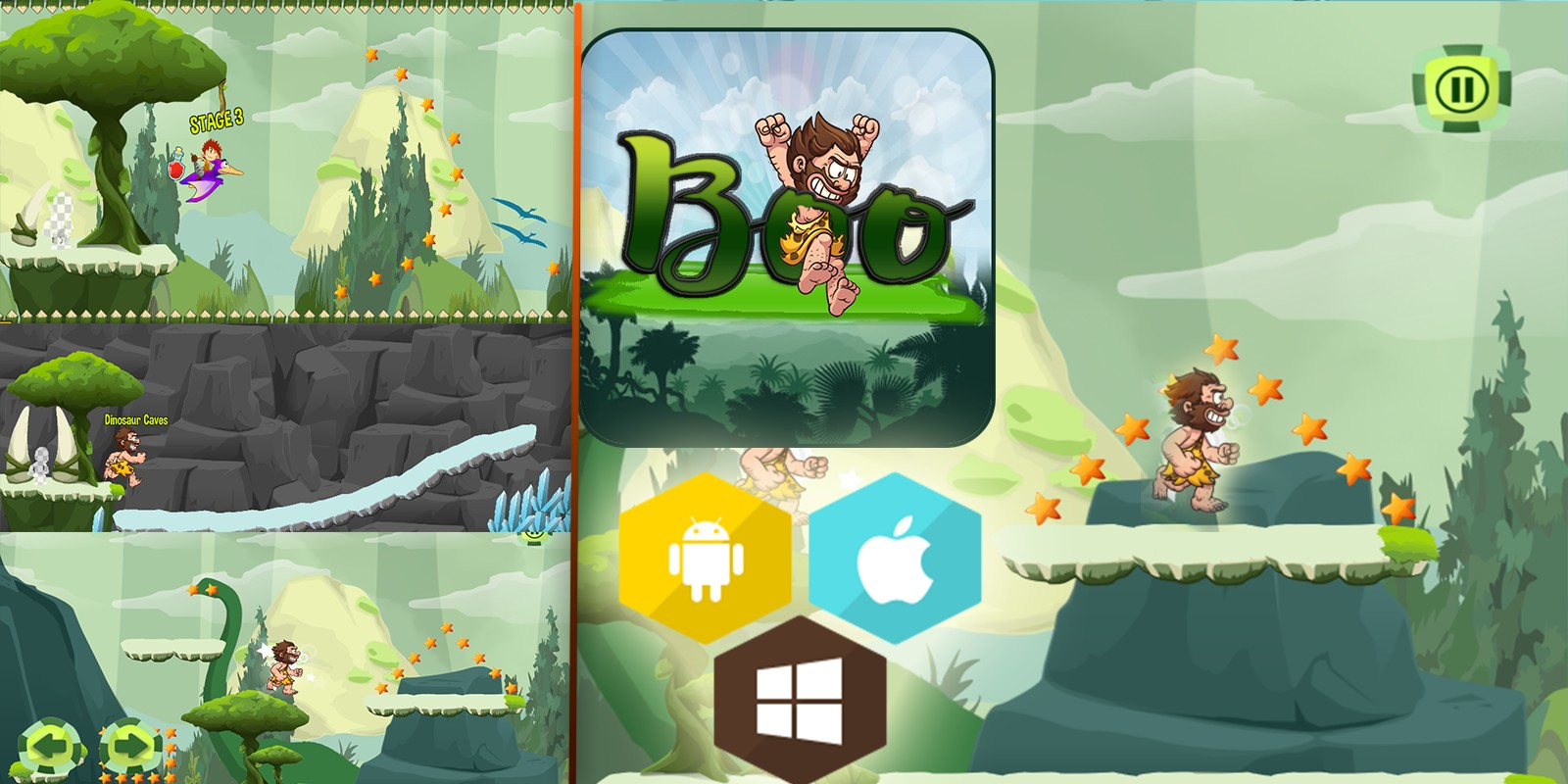 Boo Caveman - Buildbox Template