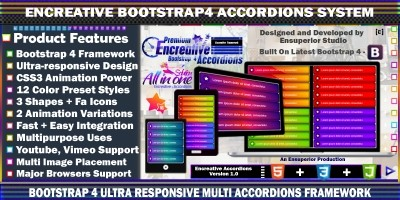 Encreative - Bootstrap 4 Accordions Framework