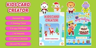 Kids Card Creator - iOS App Source Code