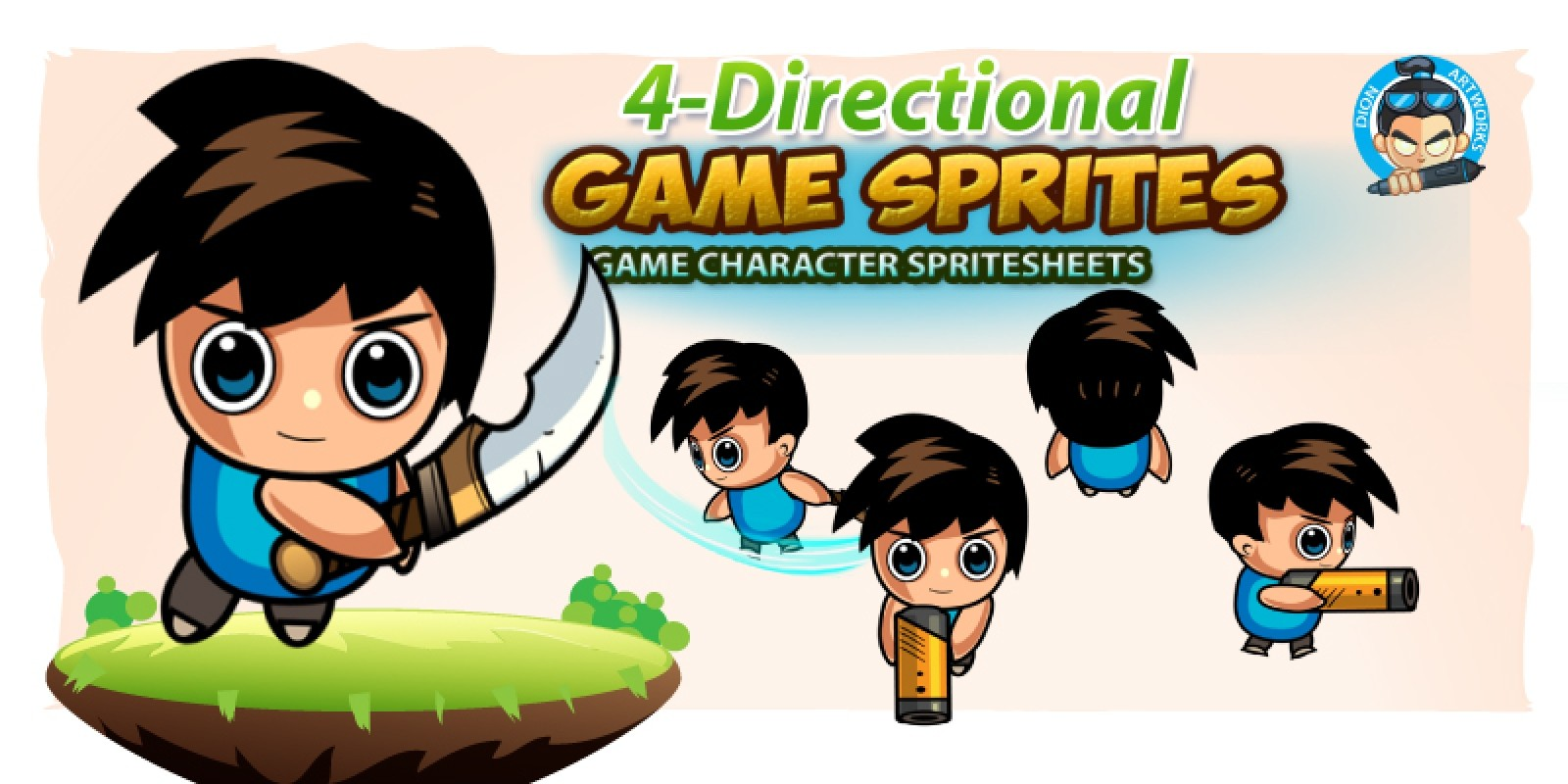 4 Directional 2D Game Sprites 01