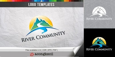 River Community - Logo Template