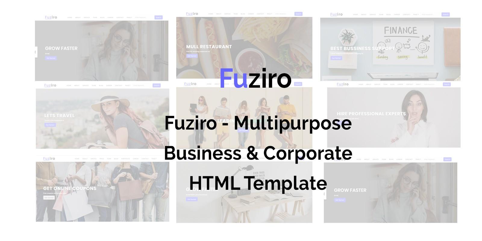 Fuziro - Multipurpose HTML Template
