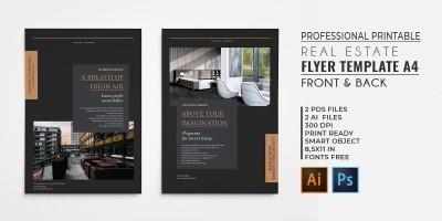 Professional Elegant Real Estate Flyer