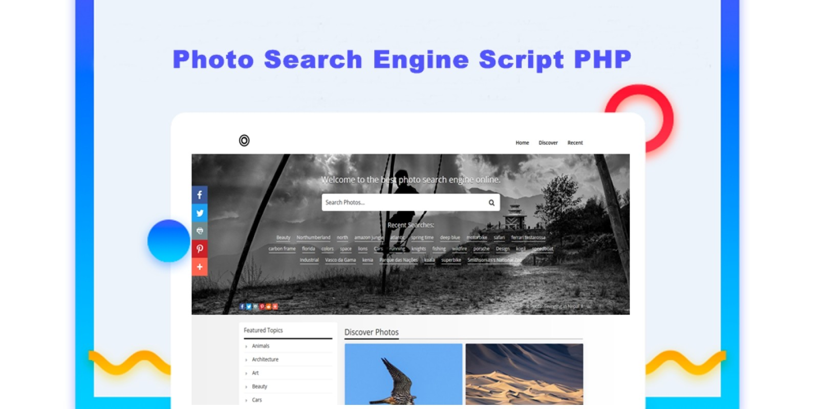 Photo Search Engine Script PHP