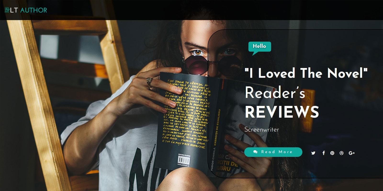 LT Author - Responsive Writer Joomla Template
