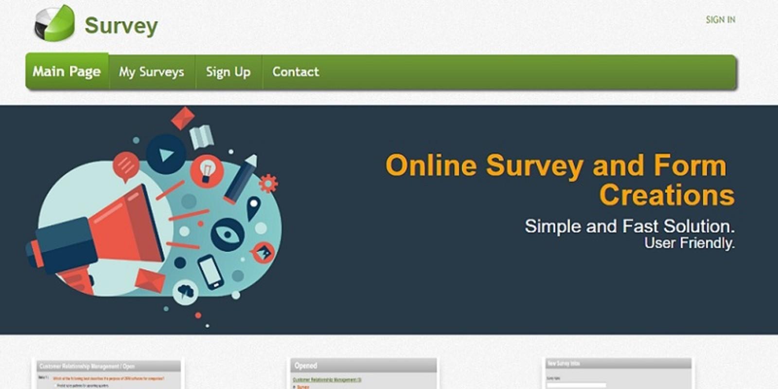 Asp.Net Survey Web Application Source Code