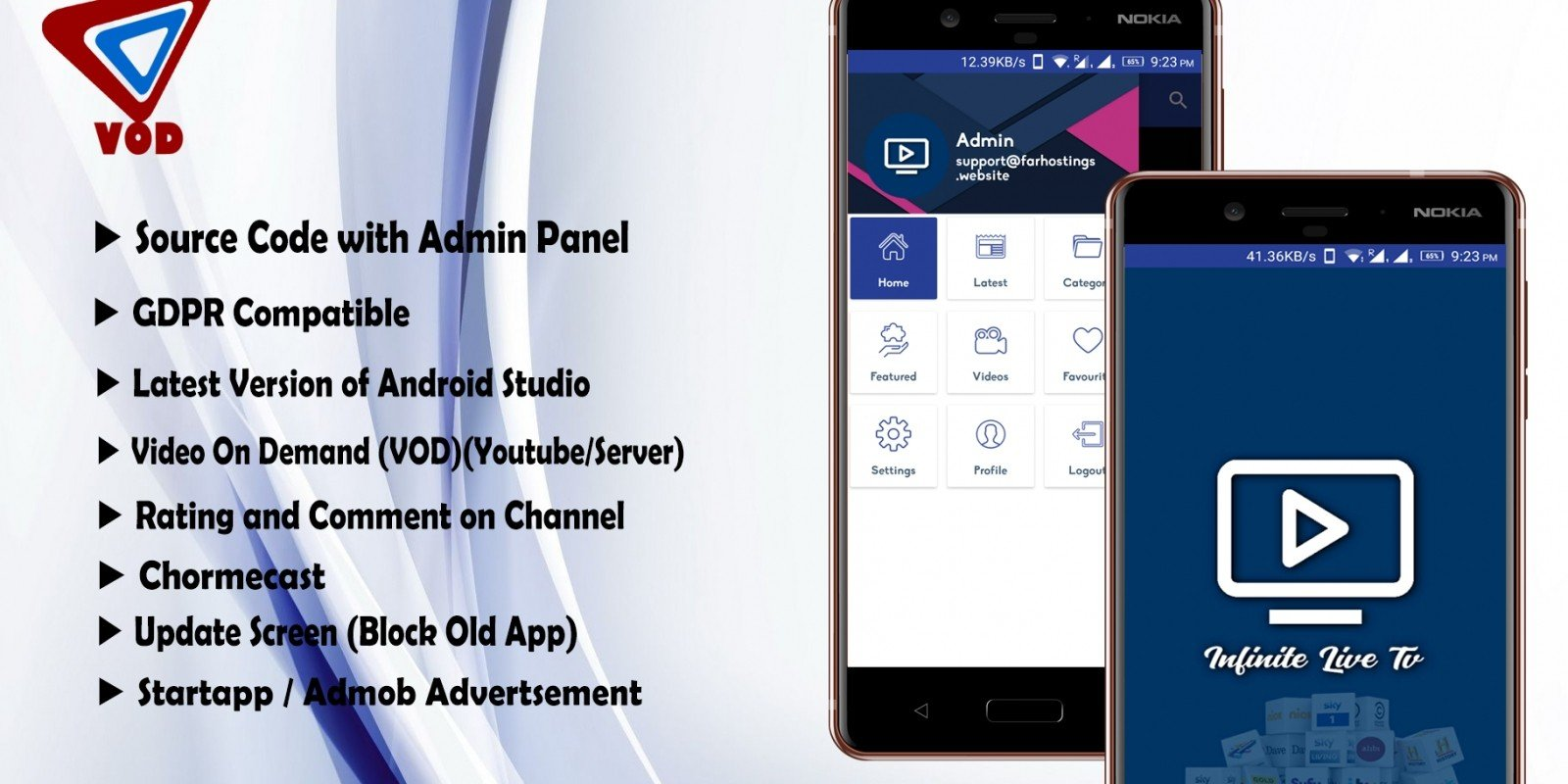 APKLand Live TV APP with Admin Panel