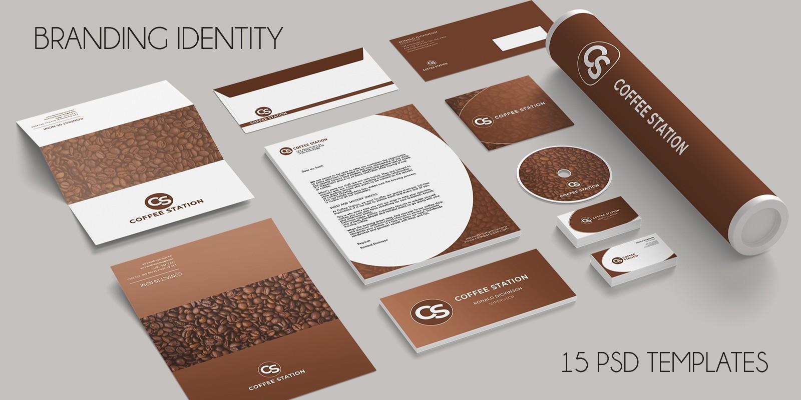 Branding Identity - 15 PSD Templates