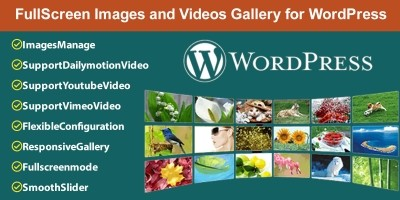 FullScreen Images and Videos Gallery for WordPress