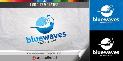 Blue Waves - Logo Template