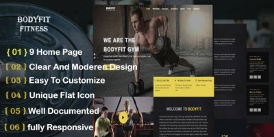 Body Fitness HTML Template