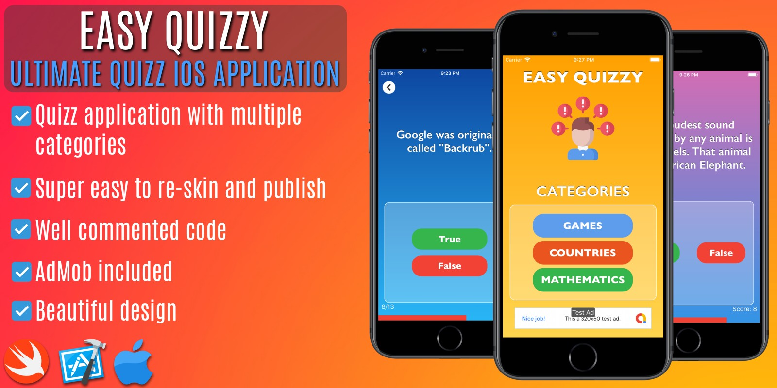 Quiz Application - iOS Xcode Project