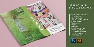 Bifold Spring Sale - 4 Printable Templates
